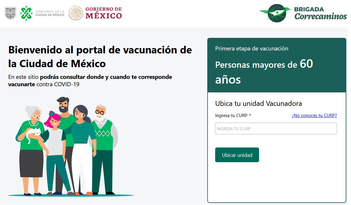 Bienvenido al portal de vacunación de la Ciudad de México
