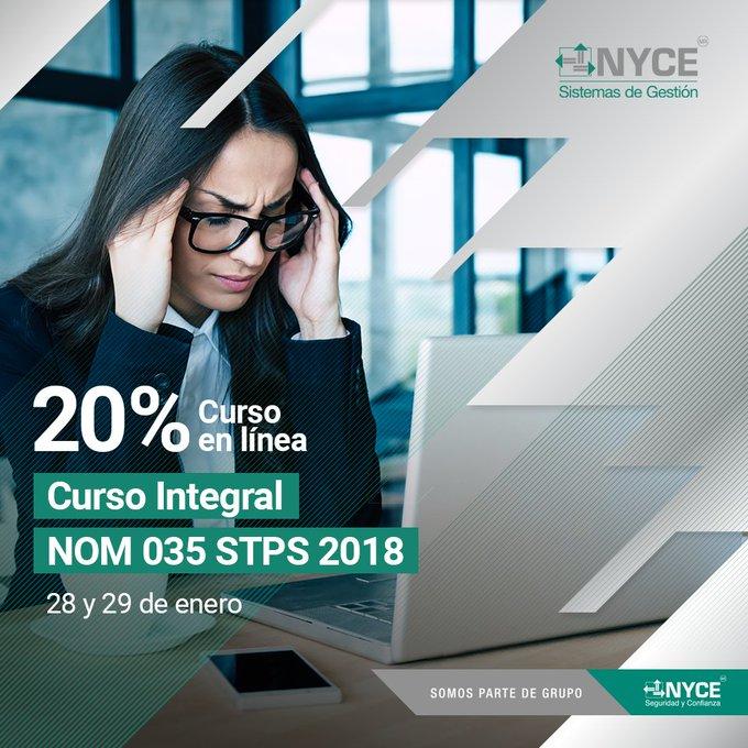 Te invitamos al Curso Integral de la NOM 035 STPS 2018