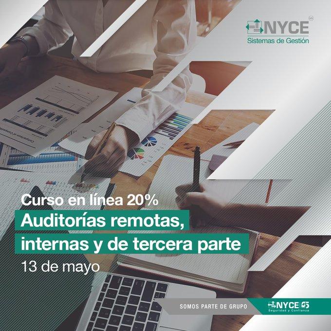CURSO EN LÍNEA 20%  AUDITORÍAS REMOTAS, INTERNAS Y DE TERCERA PARTE.