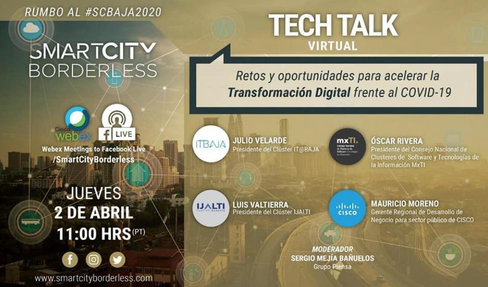 1ER TECH TALK RUMBO AL SMART CITY BORDERLESS EL 2 DE ABRIL