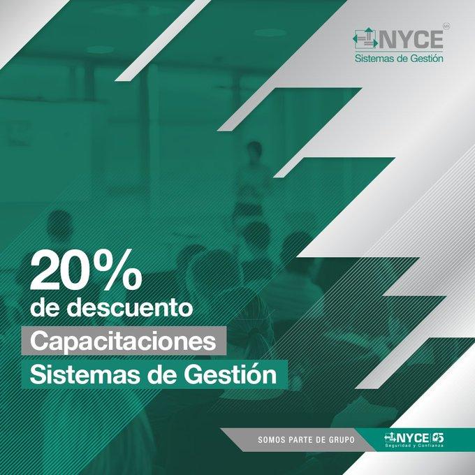 20% de descuento Capacitaciones Sistemas de Gestión