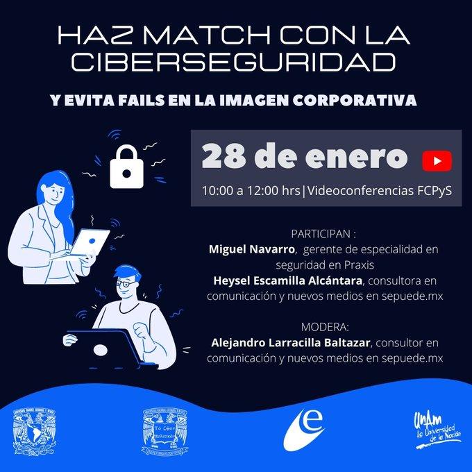 """Webinar """"Haz match con la ciberseguridad y evita fails en la imagen corporativa"""""""