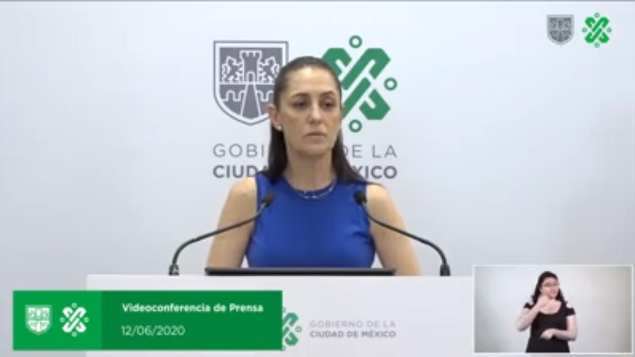 En vivo, videoconferencia de presa Gobierno de CDMX 12 de junio
