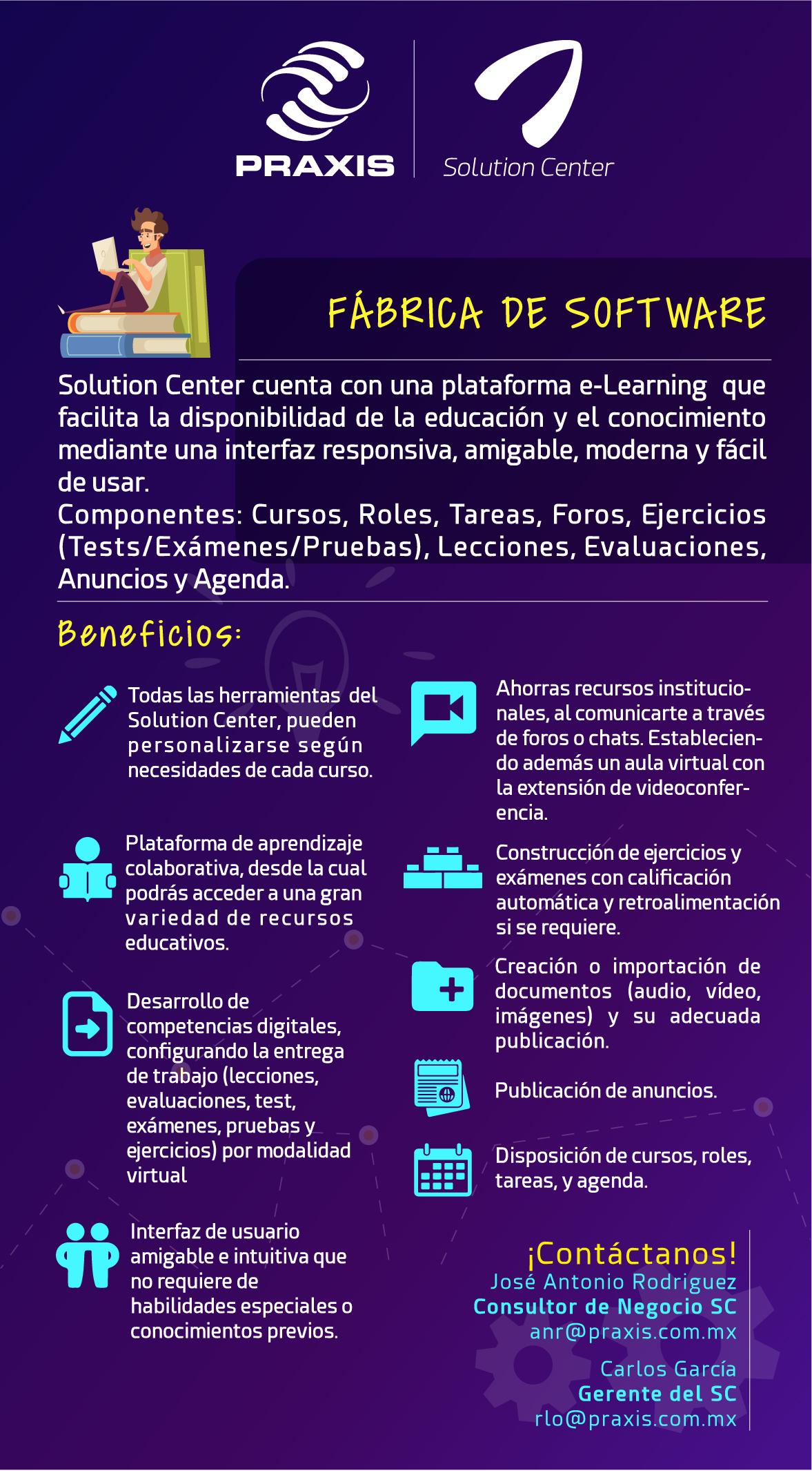 Especialidad de Solution Center