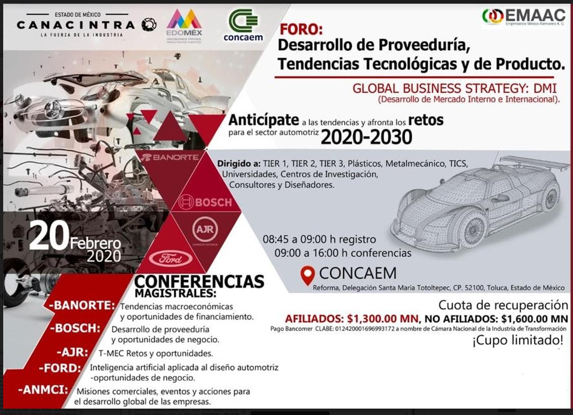 Desarrollo de proveeduría, Tendencias Tecnológicas y de Producto