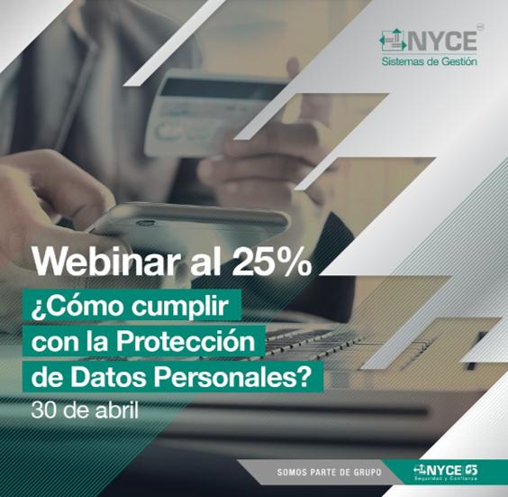 Curso en línea: Directrices para la adecuada Protección de Datos Personales. 30 de abril