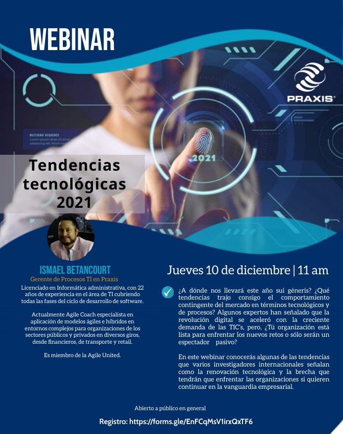 Tendencias Tecnológicas 2021, 10 de Diciembre 2020 11am