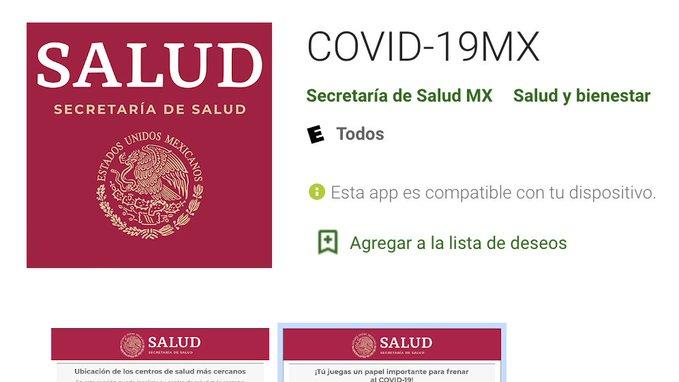 Aplicación COVID-19MX