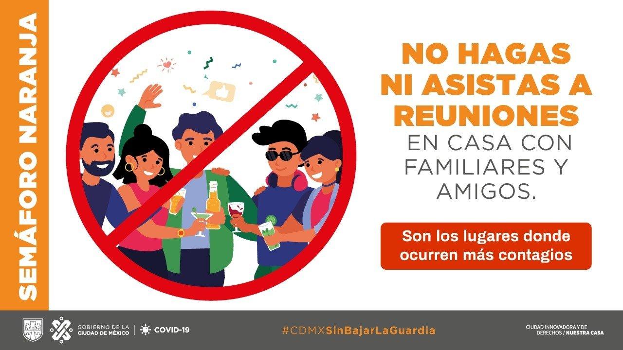 La Ciudad de México seguirá en semáforo naranja sin bajar la guardia para la próxima semana.
