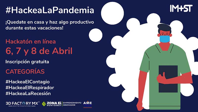 #HackeaLaPandemia. El 6, 7 y 8 de abril