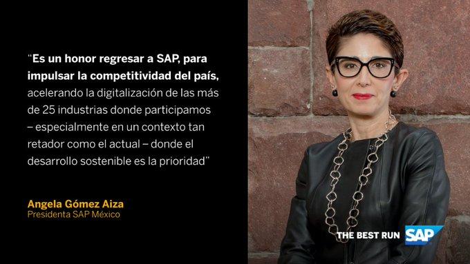 Con más de 23 años de experiencia en tecnología, retail y consumo, Angela Gómez Aiza ha sido nombrada Presidenta de SAP México.
