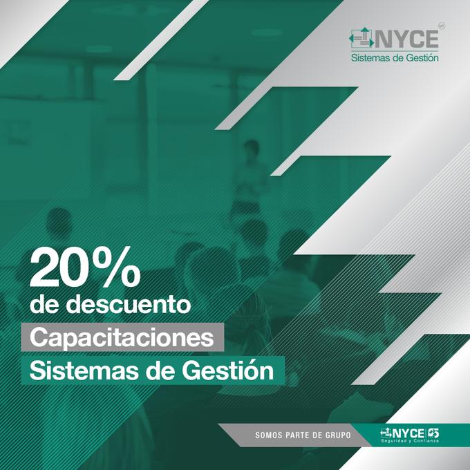 RECUERDA: En NYCE tenemos los mejores Cursos de Capacitación Online, con un 20% de descuento para ti.