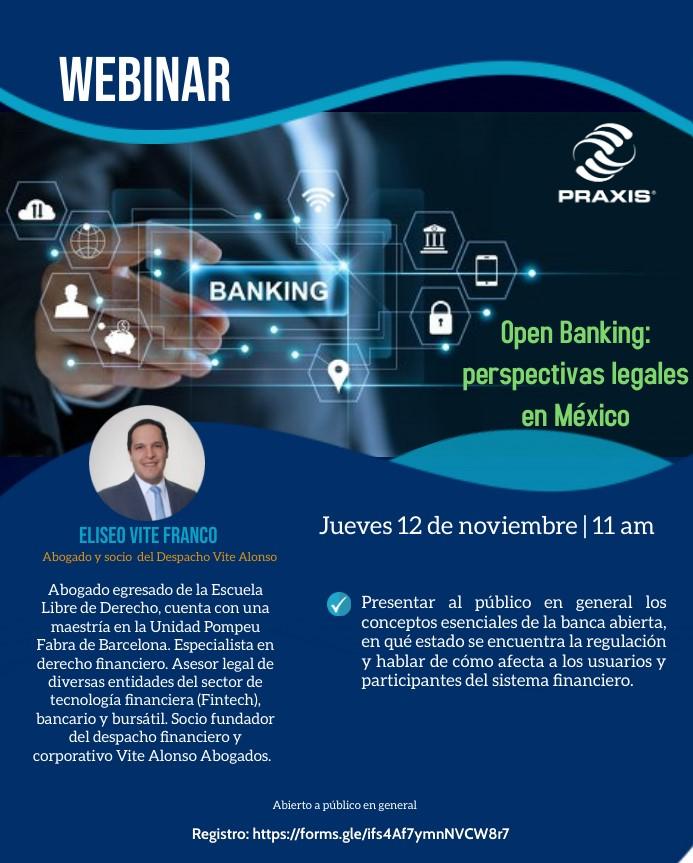 Open Banking: perspectivas legales en México, 12 de noviembre 11:00 am