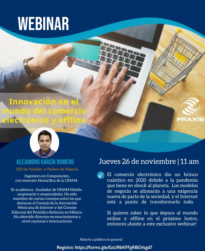 Innovación en el mundo del comercio electrónico y offline, 26 de noviembre 11:00 am