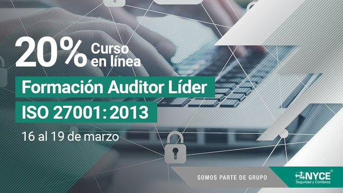 Te invitamos al Curso online: Formación de Auditor Líder de la Norma ISO/IEC 27001:2013
