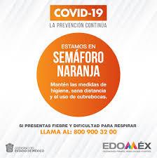 El Edoméx continúa en semáforo naranja durante la siguiente semana