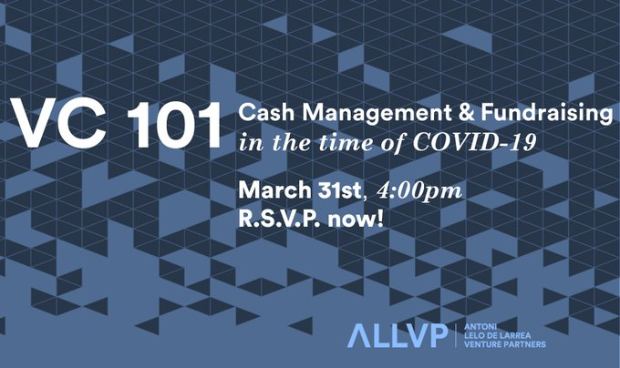 VC101  Cash Managment & Fundraising  in the time of COVID-19