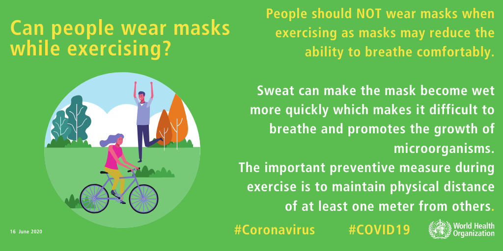 FACT: People should NOT wear masks while exercising