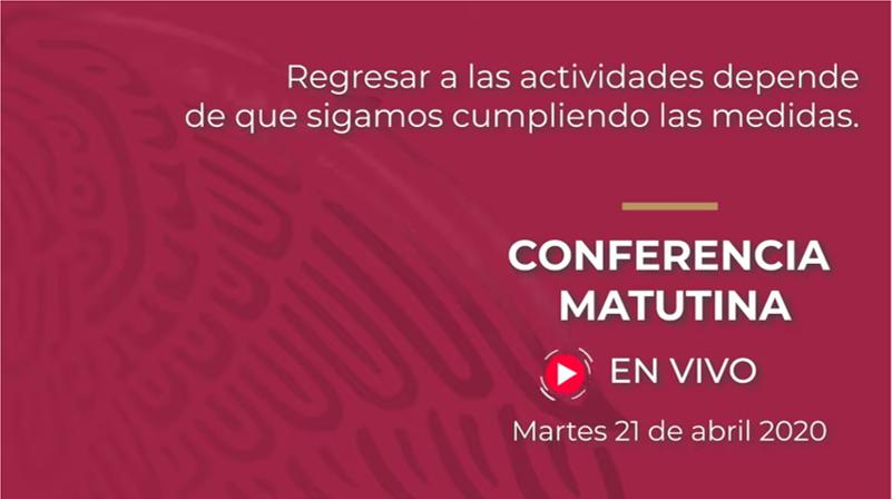 Conferencia de prensa presidencial 21 de abril