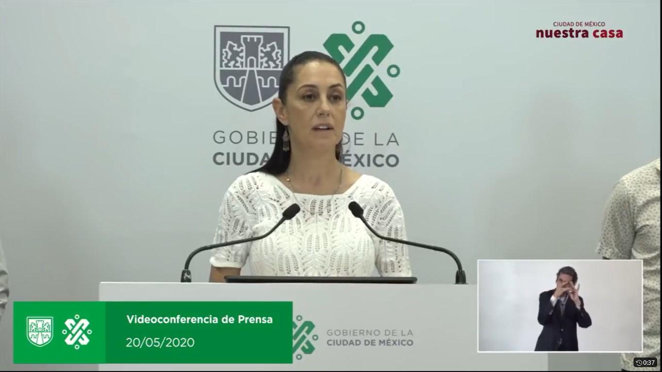 En vivo videoconferencia de prensa Claudia Sheinbaum.  Presentación del Plan Gradual hacia la Nueva Normalidad en la Ciudad de México.