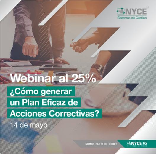 Curso en línea: ¿Cómo generar un plan eficaz de acciones correctivas? 14 de mayo