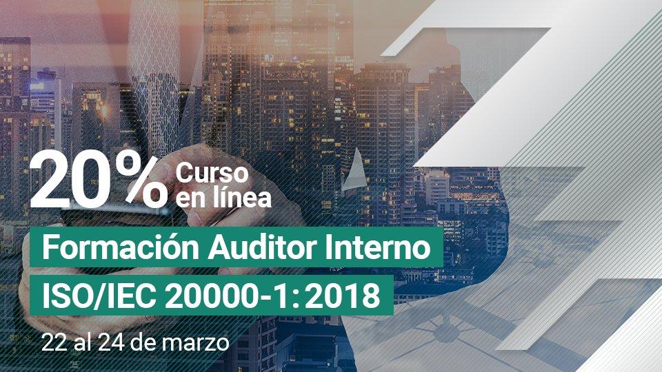 Curso Formación de Auditor Interno ISO/IEC 20000-1:2018