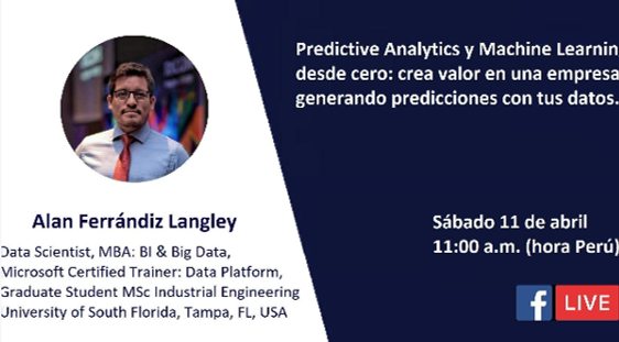 [Webcast] Predictive Analytics y Machine Learning desde cero. 11 de abril