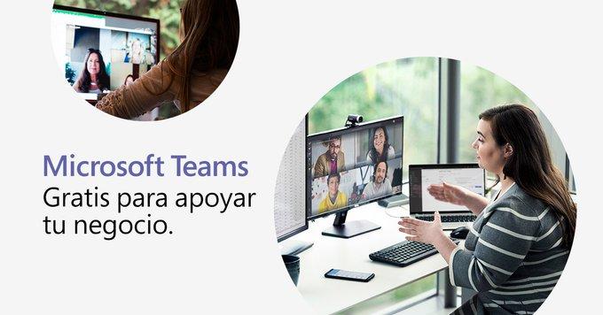Microsoft Teams gratis para apoyar tu negocio